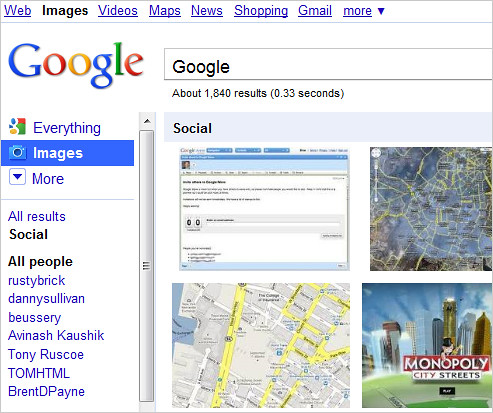 Google Social Image Search