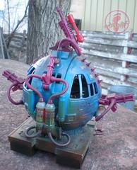 """TEENAGE MUTANT NINJA TURTLES :: """"Technodrome Scout Vehicle"""" { 1993 } KB Toys Reissue // ..detail iv   (( 1998 ))"""
