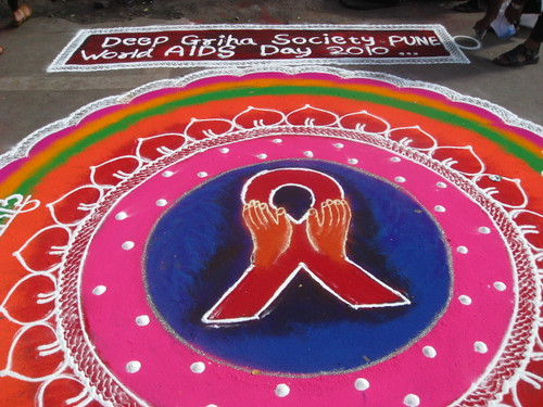 The completed second rangoli.