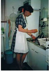 old kitchen 3 (cdhousewife) Tags: lace apron pinafore tablier domesticated kittel saucey zoccola puttana schort kitchenmaid crosstied puttanella retroapron aproned frillybibbed bibbedapron sissymaidsapron apronpockets embroideredapron weddingapron epuron maidsapron