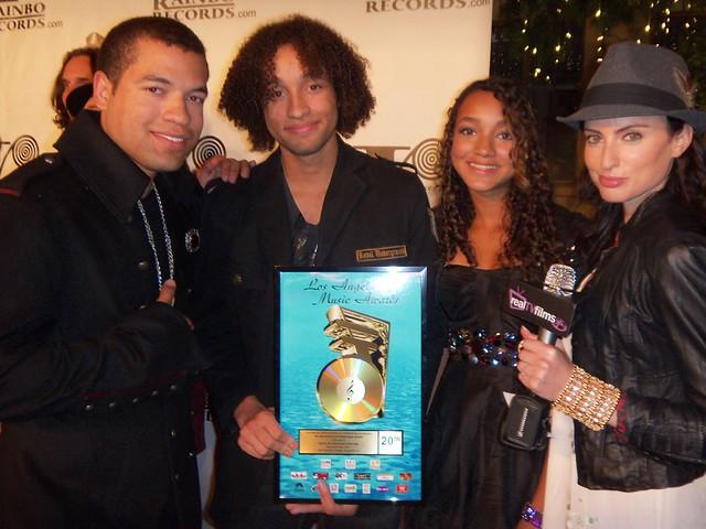 Josh and JB, Samantha Gutstadt, LA Music Awards 2010