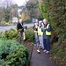 Councillor James O'Sullivan helping Greystones Tidy Towns