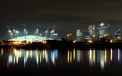 Canary Wharf skyline at night, London, UK   reflection (Sir Francis Canker Photography ) Tags: city nyc uk trip travel bridge england italy panorama u