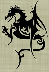 DRAGAO (Black Crown . tribal) Tags: white black art design dragon tribal tatoo ilustration magia dragao