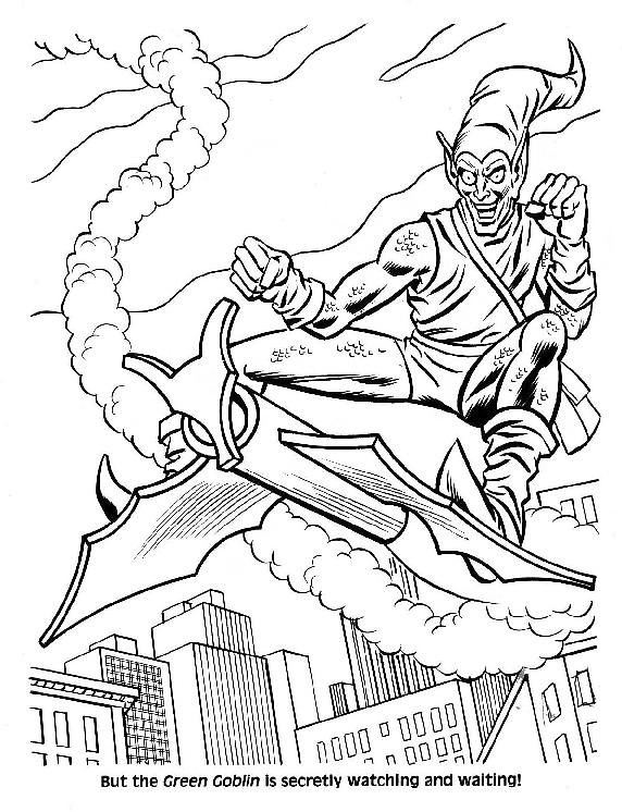 Spider-Man Unmasked! Coloring Book009