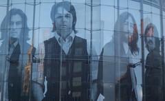 Reflections on the Beatles (hobbitbrain) Tags: london liverpool 50mm harrison minolta beatles lennon johnlennon ringostarr mccartney mersey imax thebeatles starr paulmccartney georgeharrison fabfour f17 primelens