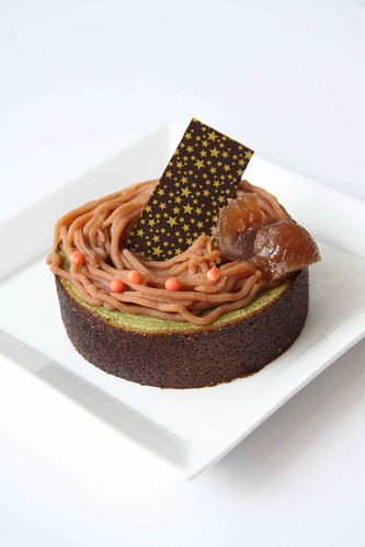 Chestnut on Green Tea baumkuchen