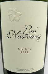 Lui Narvaez – Malbec 2008 – Para una semana movidita