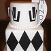 Black and White Art Deco Cake