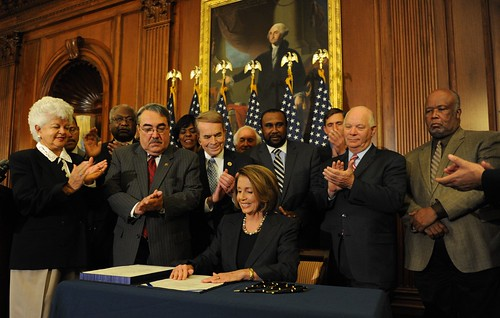 Speaker Pelosi signs the Claims Resolution Act