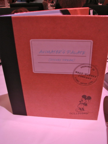 Disney Dream Animator's Palate Menu