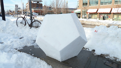 D20 Made of Snow