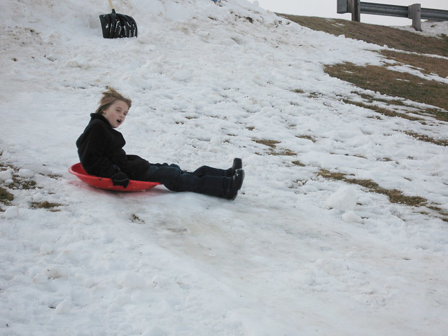 New Years Day sledding