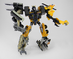 Transformers Huffer Power Core Combiners - modo combinado