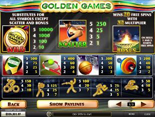 free Golden Games slot mini symbol