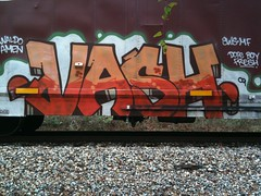 vash (RealestForreal) Tags: train graffiti freight graffititrain graffitifreight