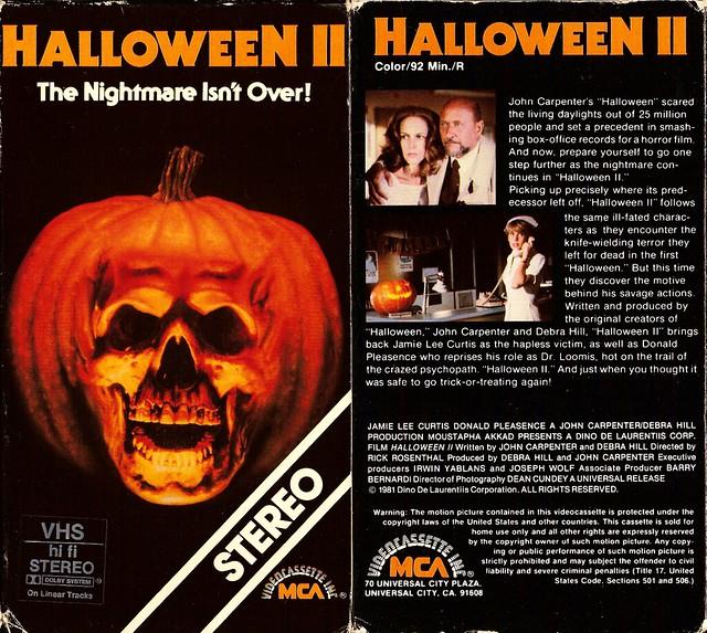 Halloween 2 (VHS Box Art)