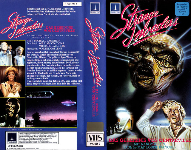 Strange Invaders (VHS Box Art)