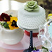 Chic elegant fondant wedding cake