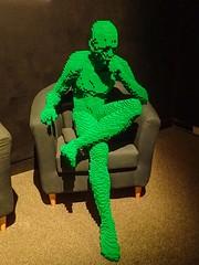 Patience (?) by Lego artist Nathan Sawaya (mharrsch) Tags: patience human green sitting lounging lego sculpture art nathansawaya artofthebrick exhibit omsi oregonmuseumscienceandindustry oregon mharrsch waiting