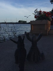 The Eagles Have Come (splinky9000) Tags: kingston ontario canada day 2014 7114 fort frontenac godzilla gojira kaiju legendary pictures neca action figure toys godzillas adventures gandalf grey wizard lord of the rings hobbit gandalfs toybiz figures lego minifigure seagull