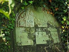 tiled tombstone (Johnson Cameraface) Tags: 2017 july summer olympus omde1 em1 micro43 mzuiko 1240mm f28 johnsoncameraface yorkcemetery yorkshire york northyorkshire cemetery tombstone headstone tiled green