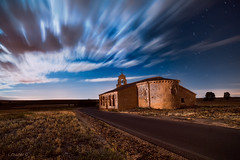 The road to spirituality XX. (darklogan1) Tags: romanesque romanico san miguel segovia spain clouds stars night castille ermita nightphotography longexposure serene sony a7r2 zeiss distagon logan darklogan1 landscape