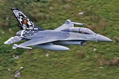 "Belgian F-16BM ""FB24"", OCU Squadron, Cad West, LFA7, 3/7/17 (TheSpur8) Tags: aircraft f16 belgian 2017 date skarbinski landlocked lowlevel jet military cadwest f16b northwales anationality places transport"