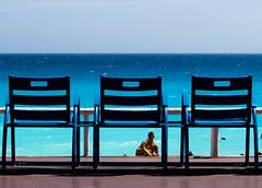 Summer time (Antonio Buemi) Tags: 2017 costaazzurra france mare nizza sea crop chairs sedili francia promenade lungomare