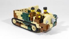 Schneider CD Artillery Tractor (main) (Rebla) Tags: rebla lego wwii ww2 world war 2 ii french vehicles schneider cd artillery tractor