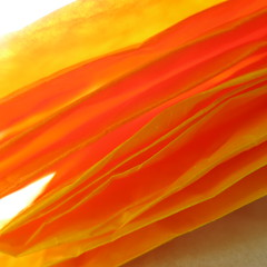 gauzy (vertblu) Tags: orange yellow paper papier paperabstract paperbag foldedpaper folded fold abstract abstrakt abstraction abstractsquared abstracted colourful colours colour vividcolours vivid warmcolors warmcolours contrejour backlit backlight monochrome vibrantcolours vibrancy vibrant vibrantandminimal vibrantminimalism kwadrat bsquare 500x500 vertblu diagonal translucent makro macro macromode anglesanglesangles