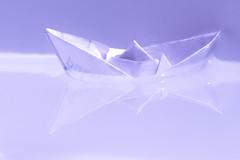 Relaxation - freedom to drift (kurjuz) Tags: macromondays dreamsofacarefreelife drift paperboat reflection relaxation water