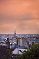 :: the city of love :: (mjcollins photography) Tags: eiffel tower tour paris france city europe arcitecture sun set