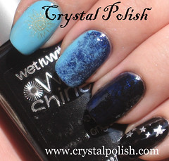 Night and Day Fauxnad (CrystalPolish) Tags: manicure wetnwild maybelline chinaglaze konad piggypolish fauxnad