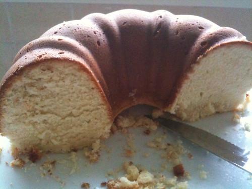 Pound Cake, half eaten