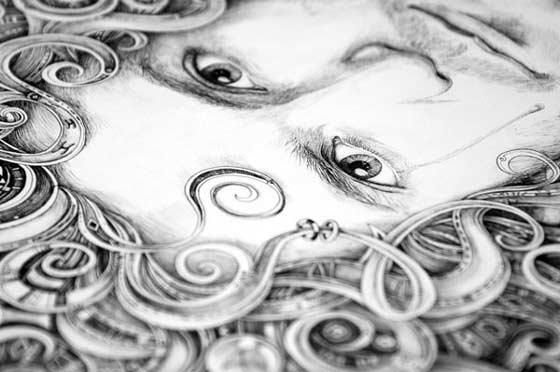 dibujos hechos con pluma