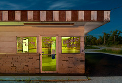 The Last Place in Picher (Noel Kerns) Tags: abandoned oklahoma night last town cafe place ghost diner superfund picher