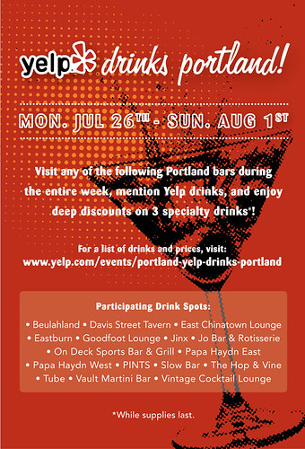 Yelp Drinks Portland