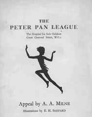 Peter Pan League Appeal (Great Ormond Street Hospital Children's Charity) Tags: peterpan images gosh aamilne ehshepard peterpanleague