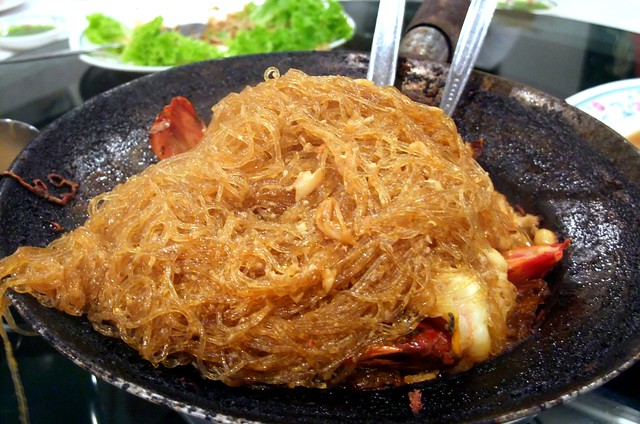 Goong Ob Woon Sen (Baked Glass Noodles with Prawns)