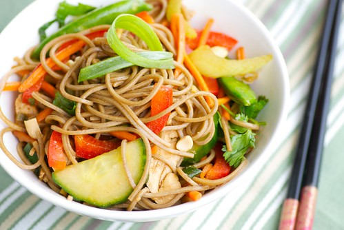 Asian Chicken and Soba Noodle Salad