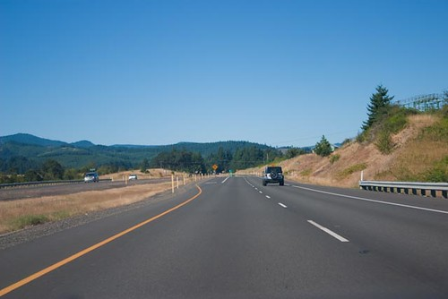 Out on the open road - Hwy 99W