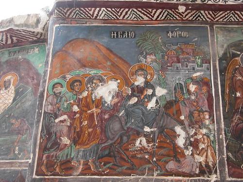 DSCN0322 Sümela, église, entrée de Jésus dans Jérusalem