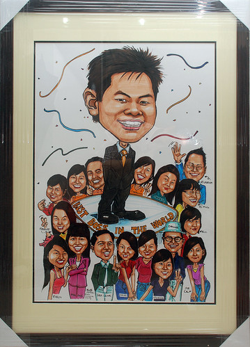 group caricatures for Citibank - best boss in the world A2 in frame