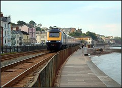 Dawlish Coastal Path (Thrash Merchant) Tags: railroad train canon diesel rail trains seawall devon railways firstgreatwestern mtu coastalpath hst dawlish highspeedtrain class43 intercity125 firstgroup ic125 fgw eos450d powercar crosscountrytrains firsttrains dawlishseawall firstgreatwesternhst fgwhst