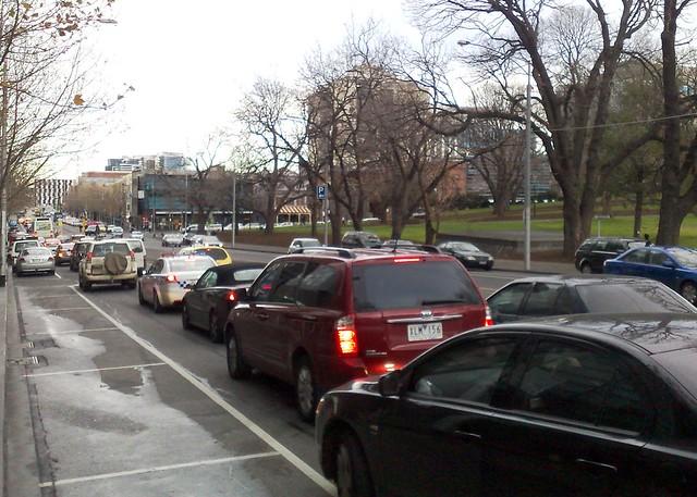 Traffic on Latrobe Street