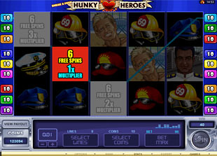 free Sneak a Peek Hunky Heroes bonus feature