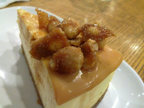 Macadamia Brittle Cheesecake