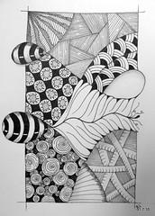 Strange Days (Jo in NZ) Tags: drawing line penink zentangle nzjo zendoodle