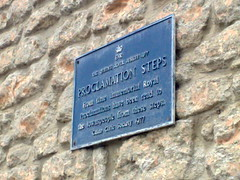 Photo of Proclamation Steps blue plaque